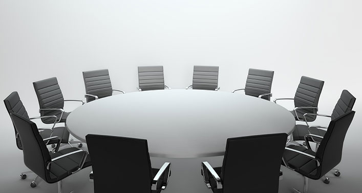 Boardroom meeting table