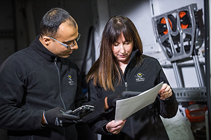 Metro Employees consulting on a project